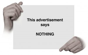Advertising says nothing